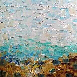Art: From Europe With Love  The Golden Beach   GREECE by Artist LUIZA VIZOLI