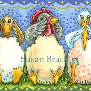 Art: BEAKS AND FEATHERS SEE NO EVIL by Artist Susan Brack