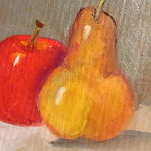 Art: Pear and Apple by Artist Delilah Smith