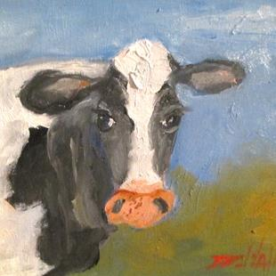 Art: Cow No. 24 by Artist Delilah Smith