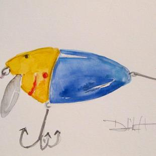 Art: Fishing Lure No. 13 by Artist Delilah Smith