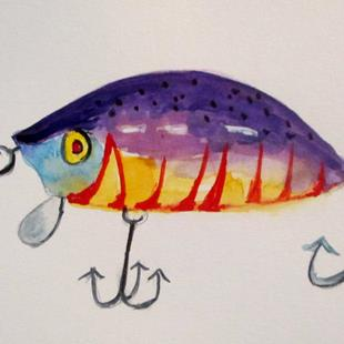 Art: Fishing Lure No. 15 by Artist Delilah Smith