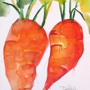 Art: Carrot No 4 by Artist Delilah Smith