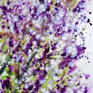 Art: LILAC BLOOM Celebration of Spring by Artist LUIZA VIZOLI
