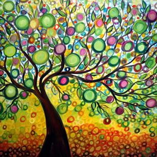 Art: Olive Tree of Life by Artist LUIZA VIZOLI