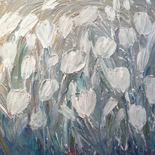Art: WHITE TULIPS by Artist LUIZA VIZOLI
