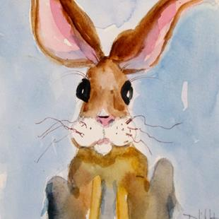 Art: Long Ear Rabbit by Artist Delilah Smith