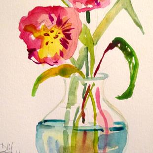 Art: Tulips in Watercolor by Artist Delilah Smith