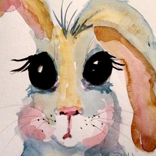 Art: Big Eyed Bunny by Artist Delilah Smith