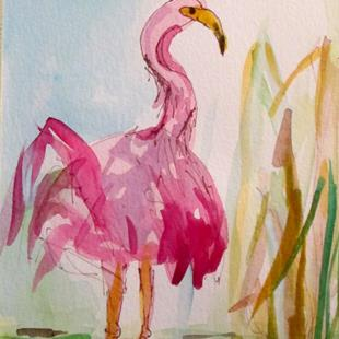 Art: Flamingo No. 37 by Artist Delilah Smith