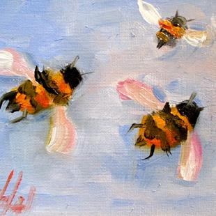 Art: Flying Bees by Artist Delilah Smith