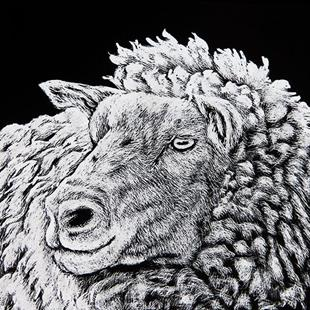 Art: Baa Ram Ewe by Artist Monique Morin Matson