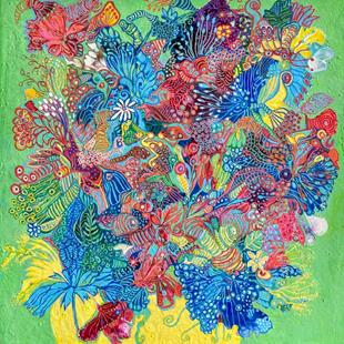 Art: Psychedelic Flowers by Artist Ulrike 'Ricky' Martin