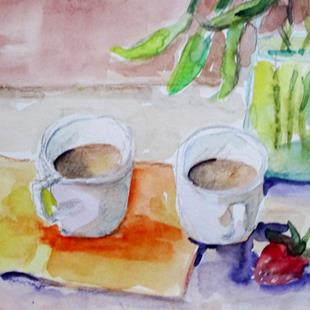 Art: Still Life with Cup by Artist Delilah Smith
