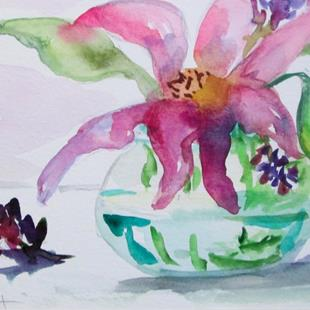 Art: Flowers in Water by Artist Delilah Smith