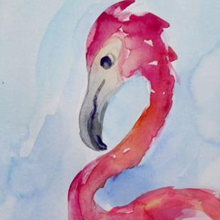 Art: Flamingo No. 38 by Artist Delilah Smith