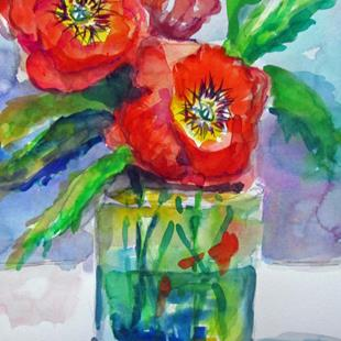 Art: Poppies in Water by Artist Delilah Smith