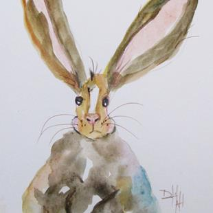 Art: Fat Brown Bunny by Artist Delilah Smith