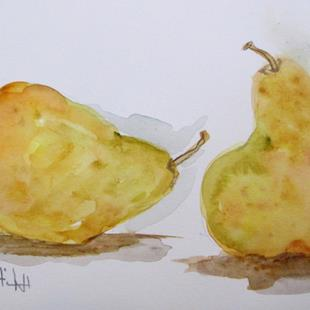 Art: Two Pears No. 3 by Artist Delilah Smith
