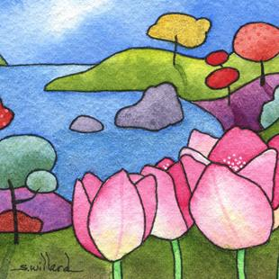 Art: Tulip Cove by Artist Sandra Willard