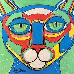 Art: Pop Art Cat by Artist Ulrike 'Ricky' Martin