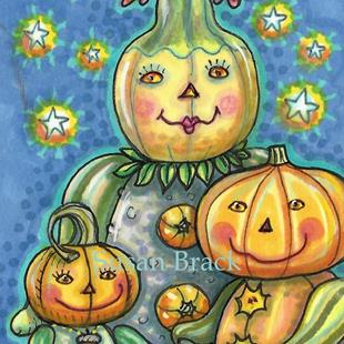 Art: NIGHT FOR TRICKS AND TREATERS by Artist Susan Brack
