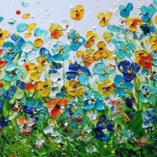 Art: SUMMER WILDFLOWERS by Artist LUIZA VIZOLI