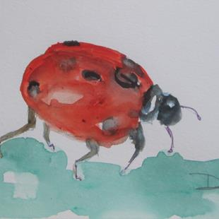 Art: Ladybug No.4 by Artist Delilah Smith