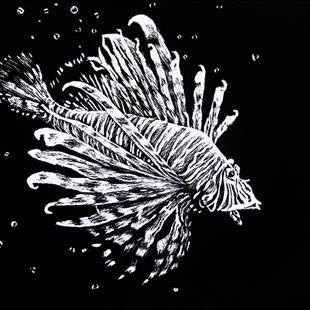 Art: Fish Bubbles by Artist Monique Morin Matson