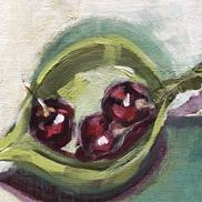 Art: cherries by Cynthia Kathleen Agathocleous