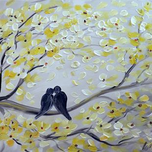 Art: THE KISS   Spring Serenade by Artist LUIZA VIZOLI
