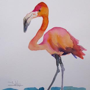 Art: Flamingo No. 39 by Artist Delilah Smith