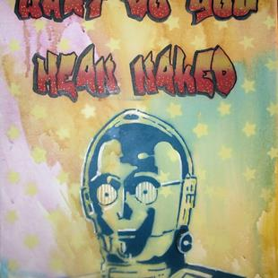 Art: C3PO Naked by Artist Paul Lake, Lucky Studios