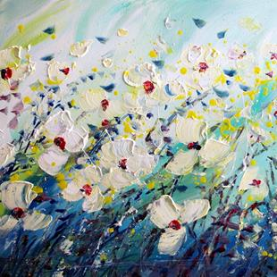 Art: WINDY FLOWERS FIELD by Artist LUIZA VIZOLI