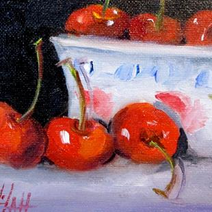 Art: Cherries in a Bowl by Artist Delilah Smith