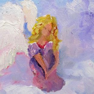 Art: Angel on a Cloud by Artist Delilah Smith