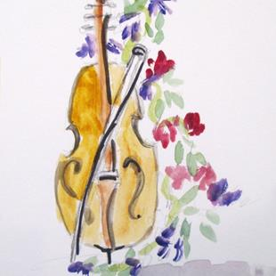 Art: Violin by Artist Delilah Smith