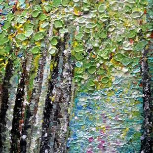 Art: BIRCH TREES A Beautiful SPRING Day by Artist LUIZA VIZOLI