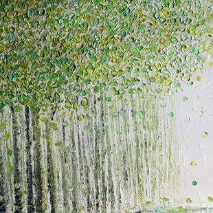 Art: SPRING BIRCH TREES by Artist LUIZA VIZOLI
