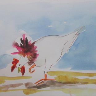 Art: Rooster No. 64 by Artist Delilah Smith