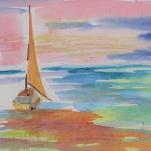 Art: Sailboat No. 31 by Artist Delilah Smith