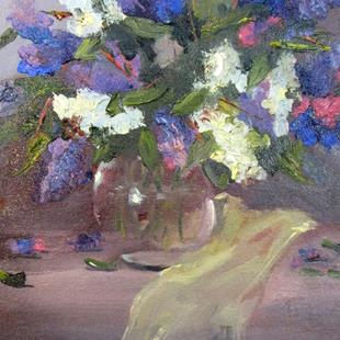 Art: Lilacs and Silk by Artist Delilah Smith
