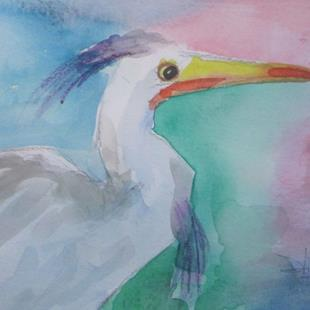 Art: Egret No. 6 by Artist Delilah Smith