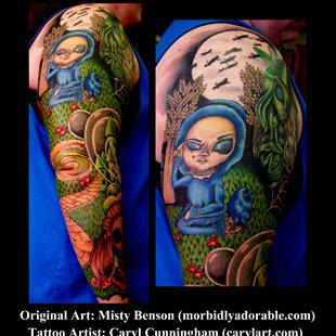 Art: Morbidly Adorable Ozling (Wizard of Oz) Tattoo Art Sleeve by Artist Misty Monster (Benson)