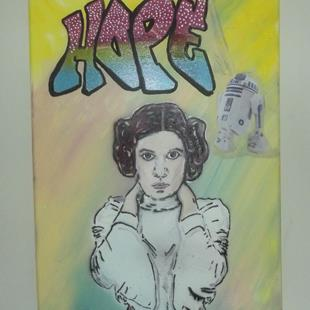 Art: Princess Leia Hope Original Graffiti Art by Artist Paul Lake, Lucky Studios