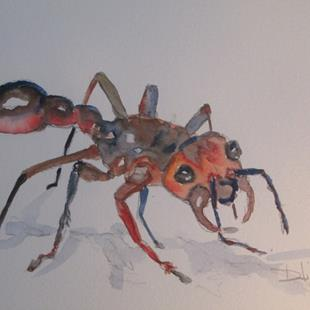 Art: Red Ant No. 3 by Artist Delilah Smith