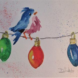 Art: Christmas Lights by Artist Delilah Smith