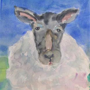 Art: Sheep No. 10 by Artist Delilah Smith