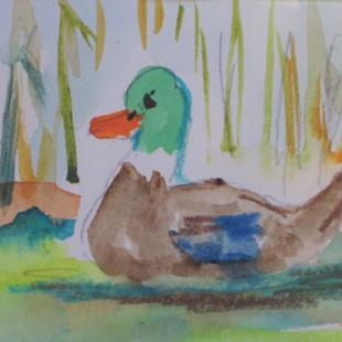 Art: Aceo Mallard No. 7 by Artist Delilah Smith