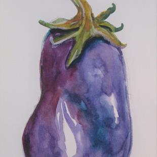 Art: Eggplant No. 5 by Artist Delilah Smith